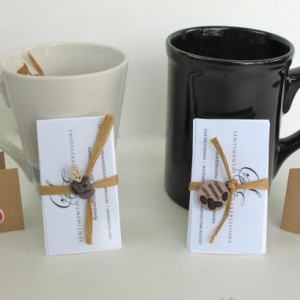 Sentimental Expressions Coffee Mugs- 10 quotes and sayings on individual cards, elegantly wrapped in a beautiful designed package