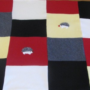 Patchwork Cashmere Hedgehog Baby Blanket - Made to Order, your color choices