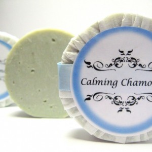 Calming Chamomile Handmade Essential Oil Bar Soap Cold Process Soap French Green Clay Skin Soothing Skin Care Facial Soap Kaolin Clay