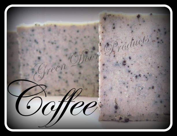 Coffee Exfoliating Bar Soap Handmade Cold Process Soap Unscented with Fresh Ground Coffee Kitchen Soap Tallow Olive Castor Oil