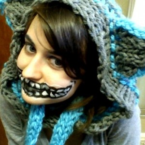 Cat Eared Hooded Scarf
