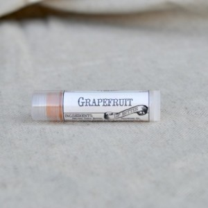 Grapefruit Lip Butter, Case of 12,  Natural Lip Gloss, Tinted Lip Balm, Herbal Lip Butter Party Favors Handmade by Natural Choice Apothecary