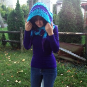 Custom Two Toned Hooded Scarf