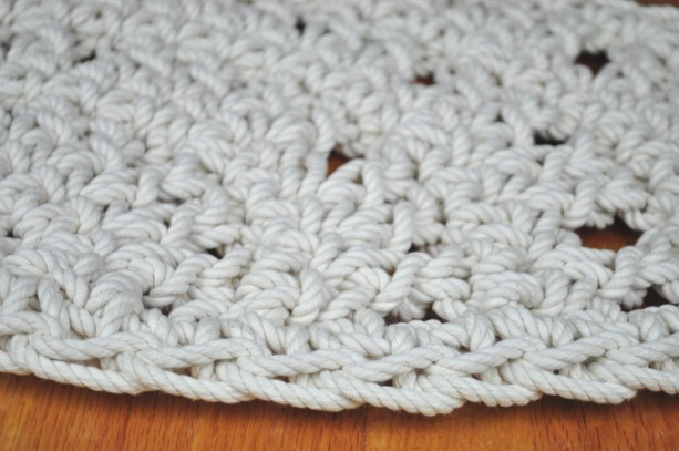 Fan in the bath fan rope mat handmade bathroom rug for Rope bath mat