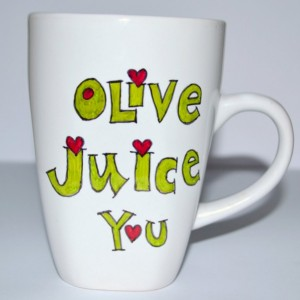 Valentine's Day Gift - Olive Juice You Mug - I Love You - Family Guy Quote 10 oz