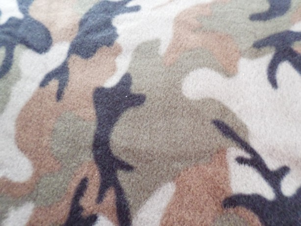 Fleece no sew double knotted hand tied Camo Blanket
