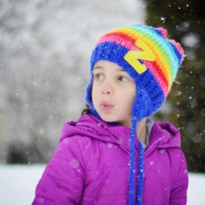 Chunky  Knit Childrens hat with  RAINBOW  stripes and Letter  of your Choice , Made in the USA, childrens bright hat, rainbow colors