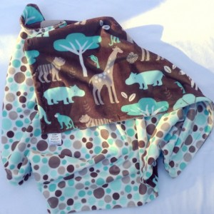 Boy Baby Blanket, Minky Baby Blanket, Bedding, Jungle Zoo Baby Boy Blanket, Elephant Monkey Giraffe Minky Baby Blanket