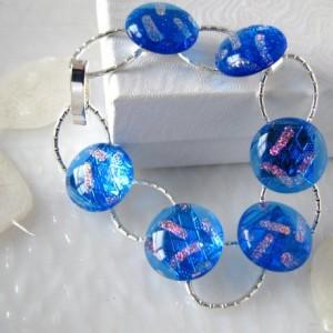 Dichroic Glass Link Bracelet B0029