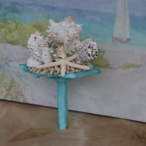 Bridesmaid Seashell Bouquet / Beach Bouquet/ Destination Bouquet/ Seaside Bouquet/ Summer Bouquet/ Wedding Bouquet