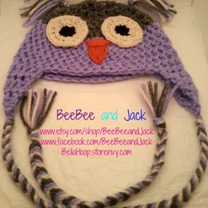 Crochet owl hat - Teen/Adult Size