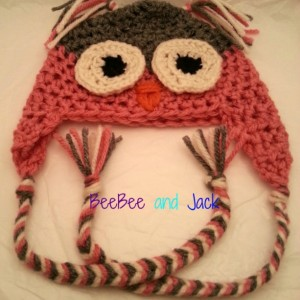 Crochet owl hat - XL Adult Size