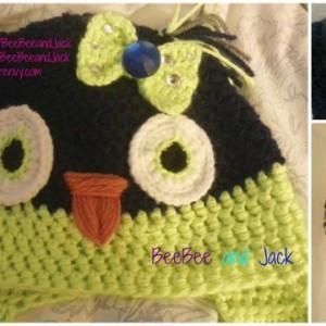 Crochet owl hat - XL Adult Size