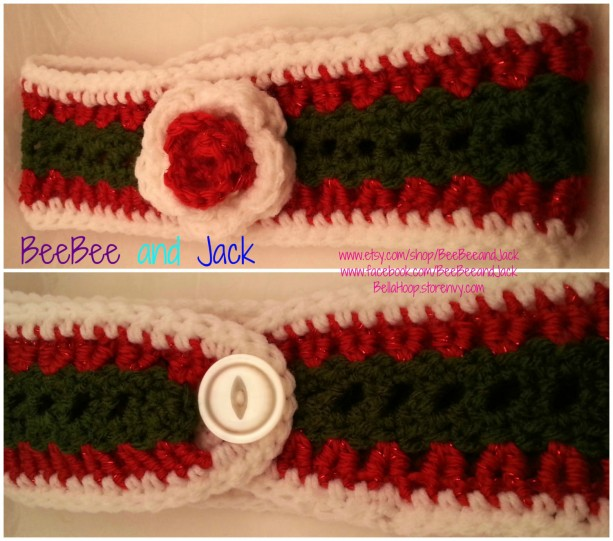 Crochet Ear warmer- Winter ear warmer- Winter accessories- Warm- Crochet accessories- Crochet hair accessories