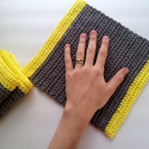 Crochet dish cloths, set of 3,  wash cloths, gray with yellow border, reusable cloths, reusable green living dish cloths, cloth wipes