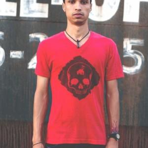 T Shirt Urban V Neck Skull for Men and Women