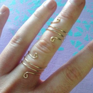 Spiral Ring Set, Coil Ring Set, Twisted Ring Set, Reversible Rings