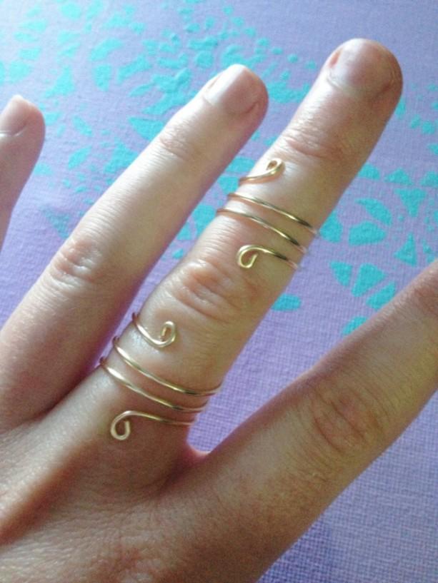 Spiral Ring Set, Coil Ring Set, Twisted Ring Set, Reversible Rings