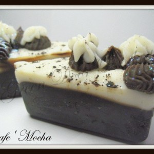 Cafe' Mocha Pie Slice Vegan Handmade Soap Fresh Ground Coffee Chocolate Decorative Soap Exfoliating