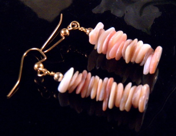 Earth Tone Stone Chip Earrings Dangling Handmade Costume Jewelry Made in Montana Free Shipping to USA Gift Box