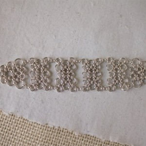 LUX Silver Chainmaille Bracelet - wide intricate handwoven statement - Argentium Silver Chainmaille Jewelry