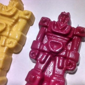 Transforming Robot Crayons - set of 10