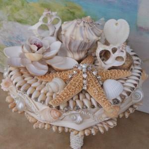 New  Large 2014 Seashell Bouquet / Beach Bouquet/ Destination Bouquet/ Seaside Bouquet/ Summer Bouquet/ Wedding Bouquet