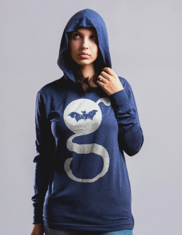 G Design Unisex Long Sleeve Jersey Hoodie Heather Navy