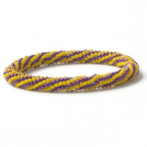 Purple and Yellow Roll On Bracelet
