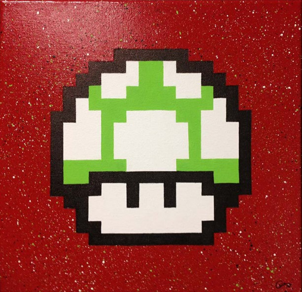 1Up Mushroom on Canvas