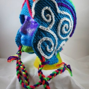 Crocheted Double Rainbow Hat