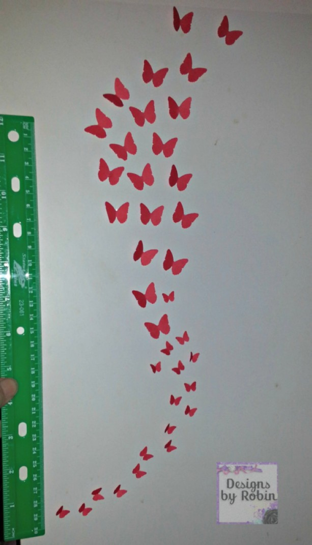3D butterfly wall art, swarm of butterflies,wall art, baby room d ...