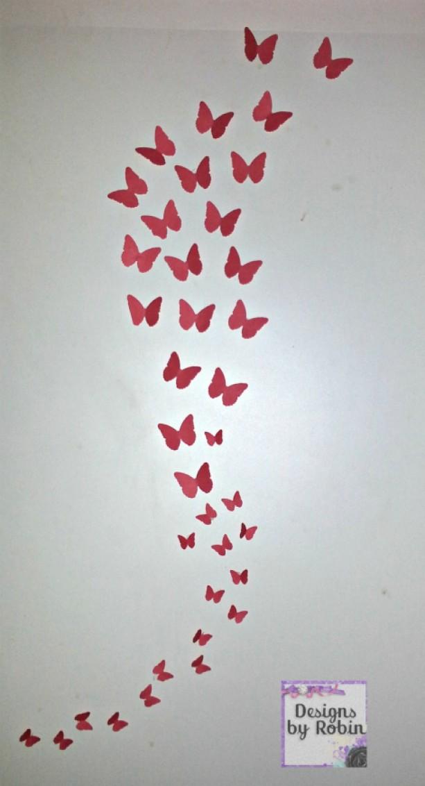 ... 3D butterfly wall art, swarm of butterflies,wall art, baby room decor,  ...