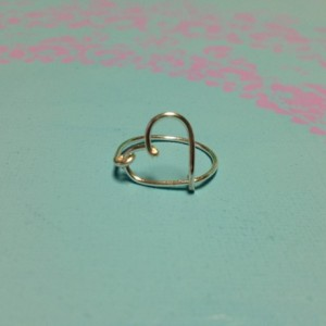 Heart Ring, Silver Heart Ring, Love Ring, Delicate Heart Ring, Open Heart Ring, Wire Heart Ring