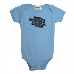 Blue turtle baby onesie Cotton American Apparel one-piece bodysuit