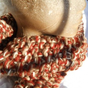Brown Winter Scarf - Hand Knit Scarf - Makes a great gift