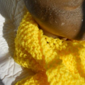 Bright Yellow Knit Scarf - Makes a Great Gift - Perfect for Fall and Winter