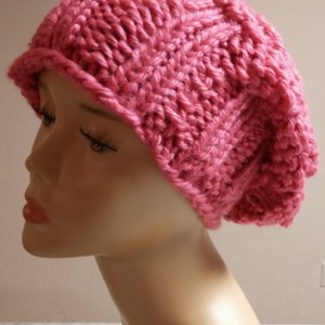 ONLY ONE Pink Knit Slouchy Winter Hat