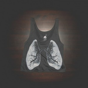 Crop Top Urban X-Ray Lungs Shirt