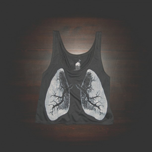 Crop Top Urban X-Ray Lungs Shirt