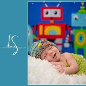 Knit Baby Hat with  BOY  ROBOT Design,  Childrens and Baby Hat, Beanie, Photoprop, Robot,  toddler hat, childrens clothing