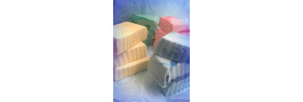 Fruity and moisturizing goats milk glycerin soaps. a dozen