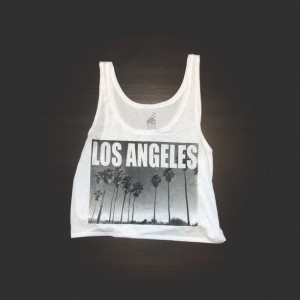 Crop Top Urban Los Angeles in White