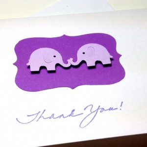 Twin Elephant Baby Shower Thank You Cards, Twin Elephants, Twins Cards, Baby Shower Elephant Thank You Cards, Twins Thank You Cards