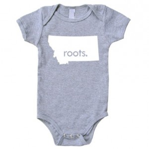 All States 'Roots' Cotton Baby One Piece Bodysuit - Infant Girl and Boy