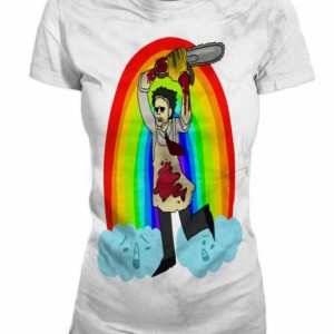 Women's Leather Face Texas Chainsaw massacre Horror Movie Rainbow