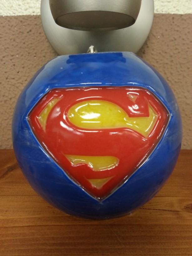 Superman Candle - Wax Candle- Comics Candle - TV Candle - Superman - Unscented Candle - Handcarved Candle - DC Comics Candle