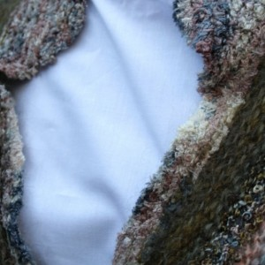 Tailored  one-of-a-kind Caplet, Multi-colored Shawl, all handmade & handknitted, original design