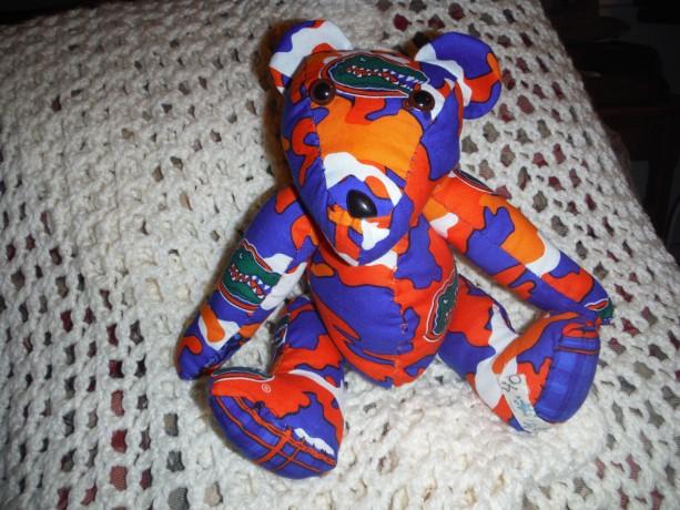 Handmade Camo Gator Print Material Star Bear