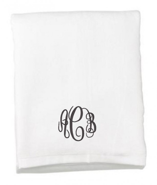 Embroidered Towels For Wedding Gift: Monogram Beach Towel, Wedding Gift, Beach Towel